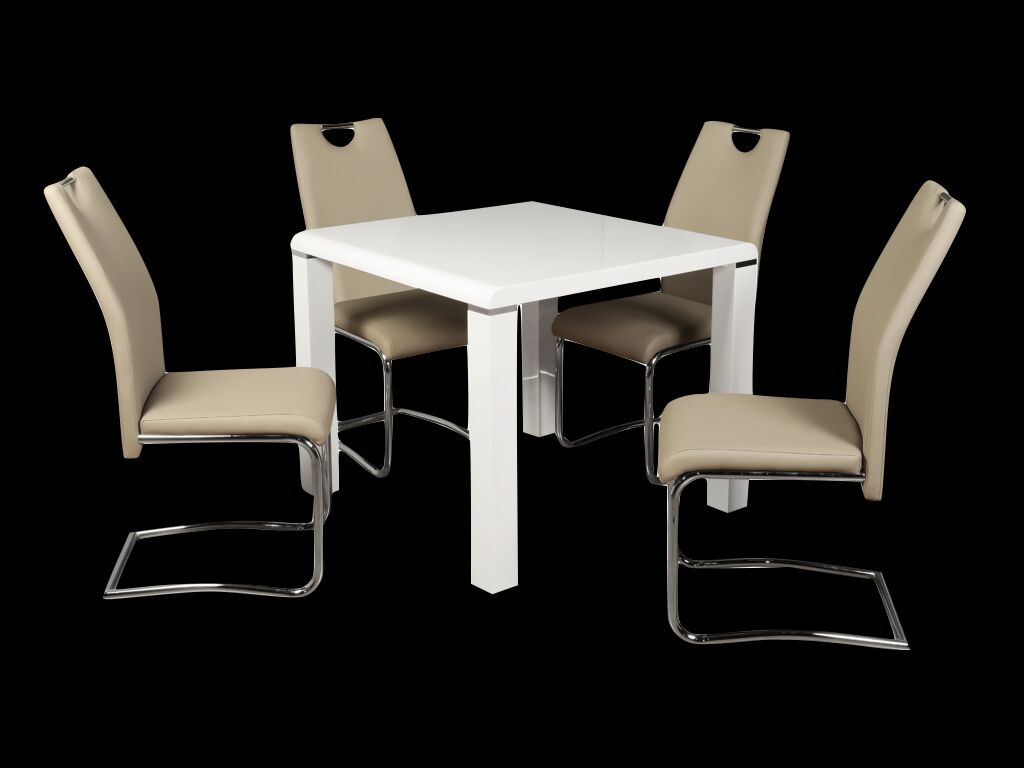 Clarus White Dining Set